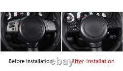 For Toyota FJ Cruiser 2007-2014 Carbon Fiber Steering Wheel Button Cover Trim
