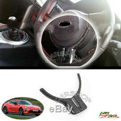 For Toyota GT86 Scion FRS Subaru BRZ Real Carbon Fiber Steering Wheel Cover Trim