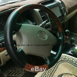 For Toyota Prado Fj120 2003-2009 1pcs Peach wood grain steering wheel cover Trim