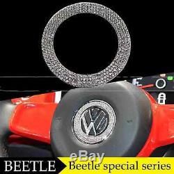 For VW Volkswagen Beetle Steering Wheel Bling Car Logo Decoration Ring Cover
