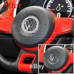 For VW Volkswagen Beetle Steering Wheel Bling Car Logo Decoration Ring Cover