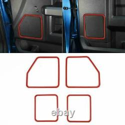 Full Cover Kit Interior Decor Panel Trim for Ford F150 2015-2019 Red Accessories