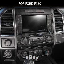 Full Cover Kit Interior Decor Trim for Ford F150 2015-2019 Steering wheel Bezel