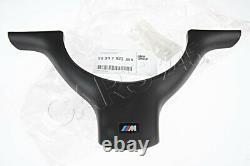 Genuine BMW 3 5 Series E46 E39 Steering Wheel M Cover Trim Black 32347833355