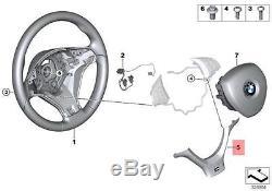 Genuine BMW E70N SUV M Sport Steering Wheel Cover black OEM 32307842606