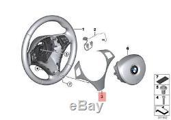 Genuine BMW E81 Steering Wheel Cover black chrome pearl glos OEM 32306850540