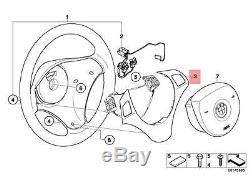Genuine BMW E82 Steering Wheel Cover black chrome pearl glos OEM 32306853142