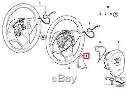 Genuine BMW E83N SUV Steering Wheel Cover left OEM 32303455487