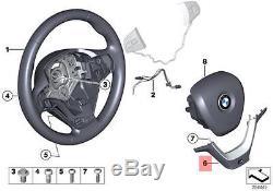 Genuine BMW F25 F26 SAC M Sport Steering Wheel Cover black OEM 32307843946