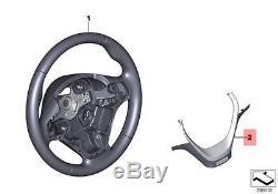 Genuine BMW F30 Steering Wheel Cover black Leather Individual OEM 32307846186