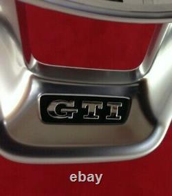 Genuine OEM VW Golf GTI MK7 flat bottom steering wheel chrome trim bezel GTD. 9B
