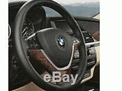 Genuine Wood Steering Wheel Cover Burr Walnut Dark 32300413681