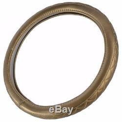 Gold BPA Steering Wheel Cover Genuine Performance Standard Size Odorless 0-833