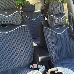 Gray 3D Style Cloth Neck Cushion Shift Knob Seat Steering Wheel Cover Set 42001