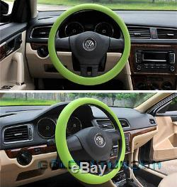 Green Soft Silicon Skidproof Odorless Universal Car Auto Steering Wheel Cover