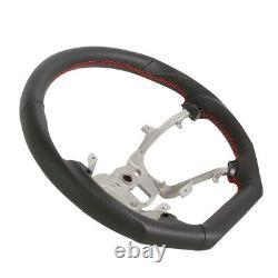 Handkraftd 07-13 Chevy Avalanche Tahoe Steering Wheel Black withRed Stitch