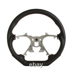 Handkraftd 07-13 Chevy Silverado Suburban Steering Wheel Black withRed Stitch