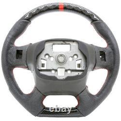 Handkraftd 15-18 GMC Sierra 1500 2500 3500 Steering Wheel Hydro Carbon Leather
