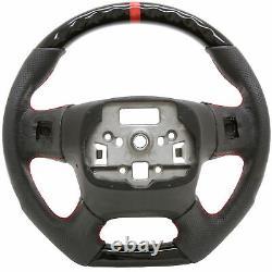 Handkraftd 15+ GMC Sierra 1500 2500 3500 Steering Wheel Gloss Black with Leather