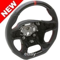 Handkraftd 15+ GMC Yukon Sierra Steering Wheel Hydro Carbon with Leather 1500