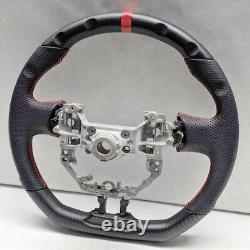 Handkraftd 2013-2017 FRS BRZ D Flat Bottom Steering Wheel Matte Hydro Carbon