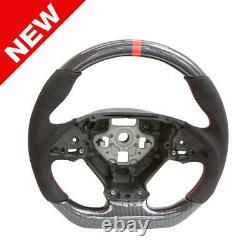 Handkraftd 2014+ C7 Chevrolet Corvette Steering Wheel H-Carbon/Alcantara/Red