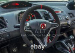 Honda 8th gen civic coupe si fd2 suede steering wheel wrap