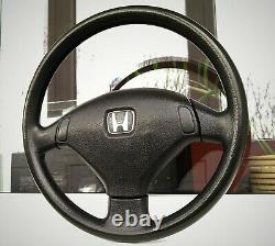 Honda Civic 92-95 Genuine Black 3 Spoke Steering Wheel EG6 EG9 EJ1 EDM JDM SiR