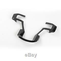 Interior Door Handle+Steering Wheel Cover Trim For Ford F150 15-19 Carbon Fiber