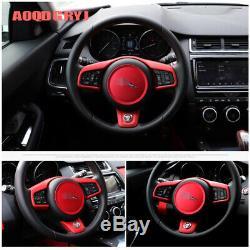 Interior Trim Steering Wheel Cover Frame Badge trim For Jaguar E-PACE 2018-2019