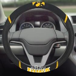Iowa Hawkeyes Embroidered Steering Wheel Cover