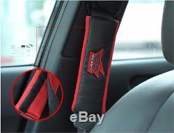 KLAUS Fashion Seat Cover + Seat Belt Shoulder Pads + Steering Wheel Cover SET