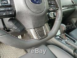 Kakumei Carbon Steering Wheel Trim Cover for 2015 2016 2017 2018 Subaru WRX STI