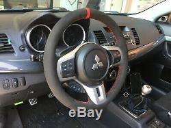 Lancer EVO10 X Ralliart suede steering wheel wrap
