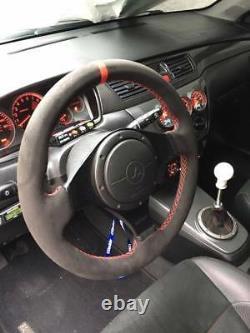 Lancer EVO 7/8/9 VIII IX suede steering wheel wrap