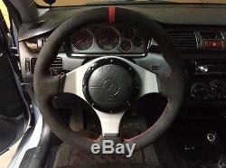 Lancer EVO Evolution 7/8/9 suede steering wheel cover wrap