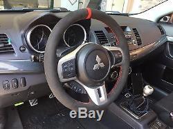 Lancer EVO Evolution X 10 suede steering wheel cover wrap