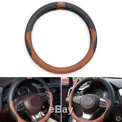 Leather Car Steering Wheel Cover 36CM Brown for Lexus es200 250 300h rx200t 450h