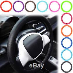 Leather Texture Car Auto Silicone Steering Wheel Cover Glove Soft Silicon Grip