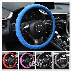 Leather Texture Car Silicone Steering Wheel Cover Hand Skidproof Shell Odorless