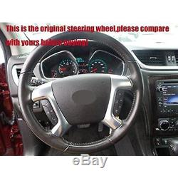 Loncky Genuine Leather Steering Wheel Cover For Chevrolet 2008-2013 Silverado