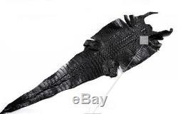 Luxury Car Steering Wheel Cover Genuine Crocodile Skin Leather 15/37-38CM Black