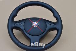 M3 M5 Steering Wheel BMW E46 E39 X5 E53 M3 M5 BLACK stitch leather FUL NAPPA