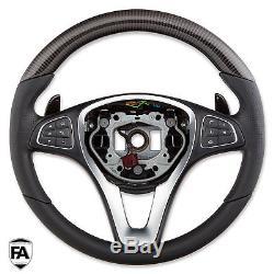 MERCEDES AMG C63 W205 W253 GLC W176 W246 W447 CARBON Steering Wheel Cover