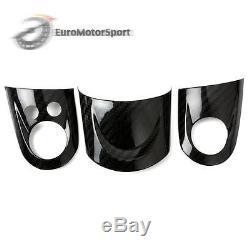@ MINI Cooper R55/R56/R57 Carbon Fiber Steering Wheel Cover Set