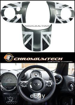 MINI Cooper/S/ONE Black Union Jack MF Steering Wheel Cover R56 R58 R59 R60 R61