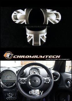 MINI Cooper/S/ONE Black Union Jack NON MF Steering Wheel Cover R56 R58 R59 R60