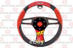 MOMO ITALY CORSE Steering Wheel Cover Red Black Accesories Racer Type 14.37