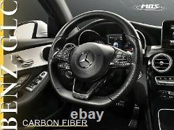 MOS Carbon Fiber Steering Wheel Covers Set for Mercedes-Benz C-Class/ W205/ GLC