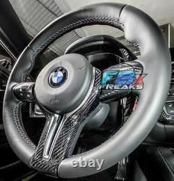 M Performance Style Carbon Fiber Steering Wheel Trim For M2 M3 M4 M5 M6 F80 F82